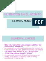 Nutricion en El Nenato