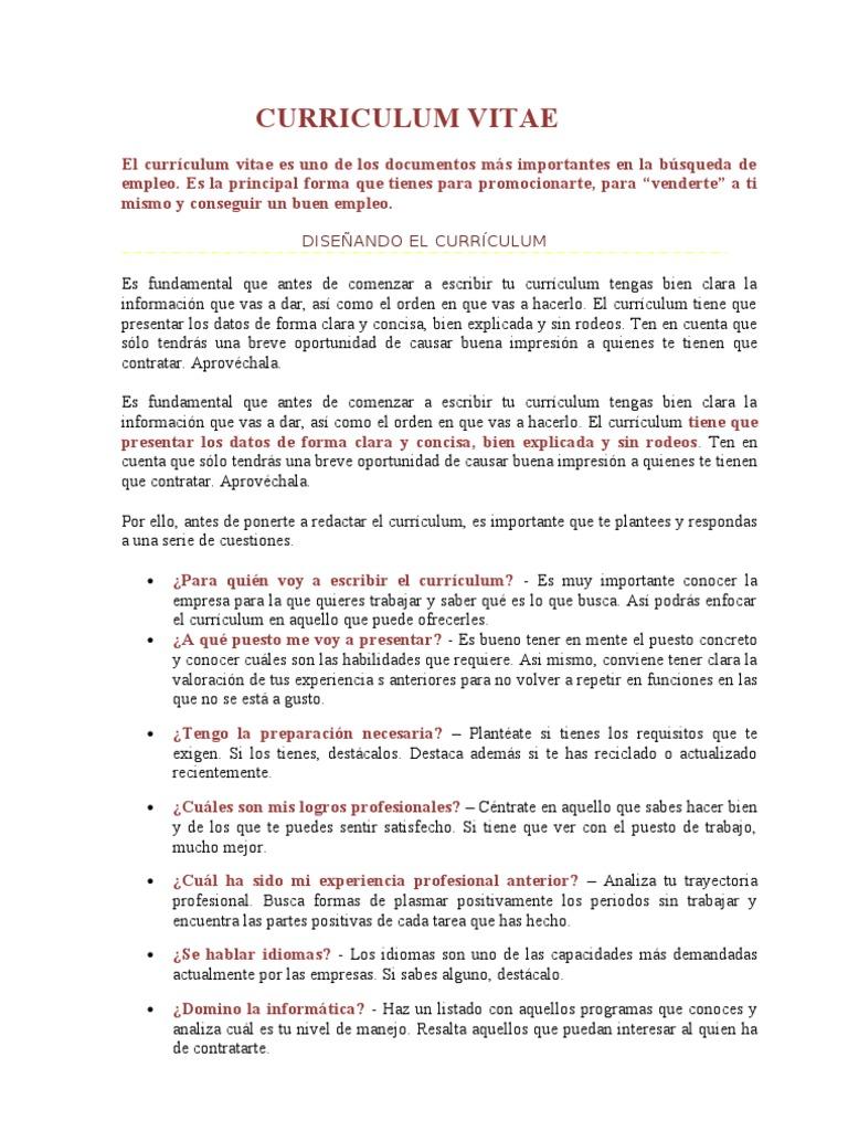 Atractivo Currículums De Actuación Para Principiantes Sin ...