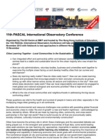 11th PASCAL International Observatory Conference