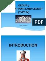 Low Heat Portland Cement