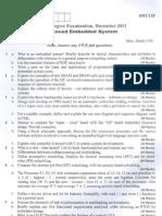 10ec118 Advanced Embedded Systems Dec-2011