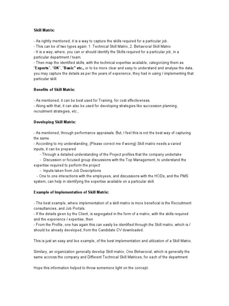 Skill Matrix 194 | Expert | Matrix (Mathematics)