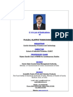 Prof. Dr. Alappat Ramachandran Registrar, Cochin University of Science and Technology  & Director, School of Industrial Fisheries, CUSAT, Cochin, India