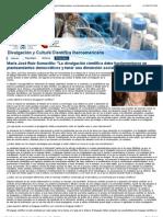 Divulgación científica. Entrevista con la Dra. María José Ruiz Somavilla