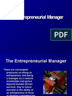 EntreprenEntrepreneurial Managereurial Manager