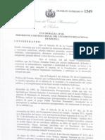 DECRETO SUPREMO Nº 1549 DE 10 DE ABRIL DE 2.013 SOBRE INCREMENTO SALARIAL GESTIÓN 2013