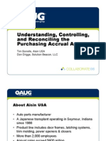 Understanding, Controlling, And Reconciling the Purchasing Accrual Account