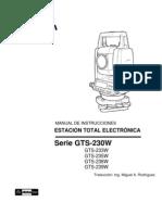 Manual Estacion Total GTS-230w Esp