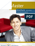 Tilburg University- Holland- Brochure of Master Programs