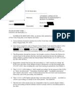 Responding Affidavit