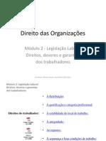 Direito das Organizações - MOD 2 - legislação laboral