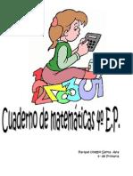 4Cuaderno de Matemáticas para 4º de E. Primaria