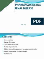 Altered Pharmaco kinetics in Renal Disease