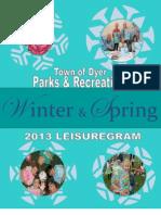 Town of Dyer 2013 Winter-Spring Leisuregram