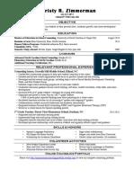 portfolio christy zimmermans resume - counseling