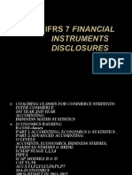 IFRS 7 Presenting Financial Instruments