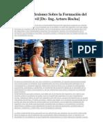 Algunas Reflexiones Sobre la Formación del Ingeniero Civil
