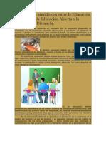 Diferencias y similitudes entre la Educación Tradicional