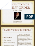 Brigham Young Family United Order Plan