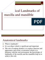 Landmarks for maxilla and mandible