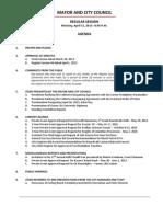 April 15 2013 Complete Agenda
