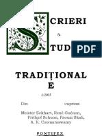 Caiete Screri Si Studii Traditionale Nr 1/2005