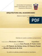 Arquitectura Del Academicismo Republicano, Academias San Fernando, San Carlos, Arquitectura Del Porfiriato