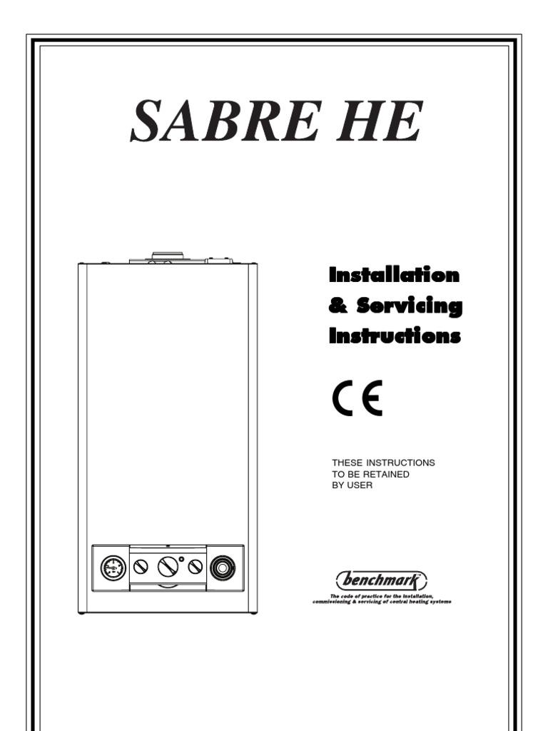 Sabre Boiler Wiring Diagram Manual Guide 25he Combi Water Heating Valve Rh Fr Scribd Com Hot Schematic