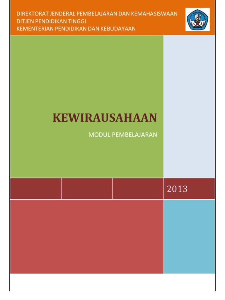 Buku Modul Kuliah Kewirausahaan