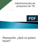 Administración de proyectos de TIC