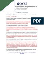 Preguntas y Respuestas Webinar Profesor Luis J. Sanz