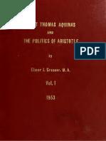 Aquinas and Politics of Aristotle v1