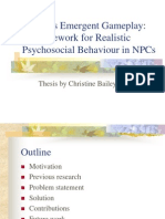 Presentation - Towards Emergent Gameplay: A Framework for Realistic Psychosocial Behaviour in NPCs