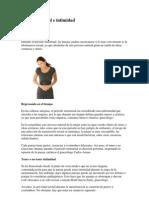 Ciclo Menstrual e Intimidad