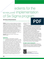 10 Key Factor to Implement Six Sigma