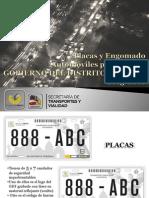 NUEVAS PLACAS DE VEHÍCULOS PARTICULARES DEL GDF