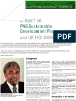 PNG Sustainable Development Program statement