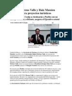 11-04-2013 Puebla noticias - Firman Moreno Valle y Ruiz Massieu convenio para proyectos turísticos.pdf