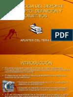 Presentación PPTT de la psicología del deporte (Definición y Objetivos).ppt