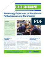 Preventing Exposures to Bloodborne Pathogens Among Paramedics