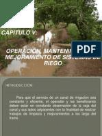 OPERACION, MANTENIMIENTO Y MEJORAMIENTO DE SISTEMA DE RIEGO.ppt