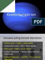 Kesetimbangan Ion