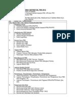 Borang Senarai Semak Sistem Fail PBS 2013