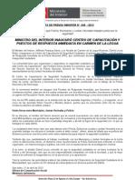MINISTRO DEL INTERIOR INAUGURÓ CENTRO DE CAPACITACIÓN Y PUESTOS DE RESPUESTA INMEDIATA EN CARMEN DE LA LEGUA