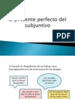 Presente perfecto del subjuntivo español