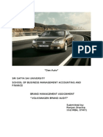 brandassignment on volkswagen brand audit
