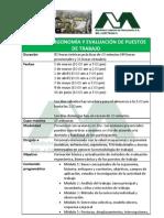 Curso Ergonomia y Evaluacion de Puestos de Trabajo