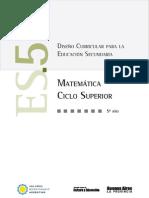 Diseño Curricular Matematica 5° Buenos Aires