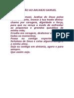 ORAÇÃO AO ARCANJO SAMUEL
