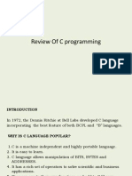 Review of C Programming